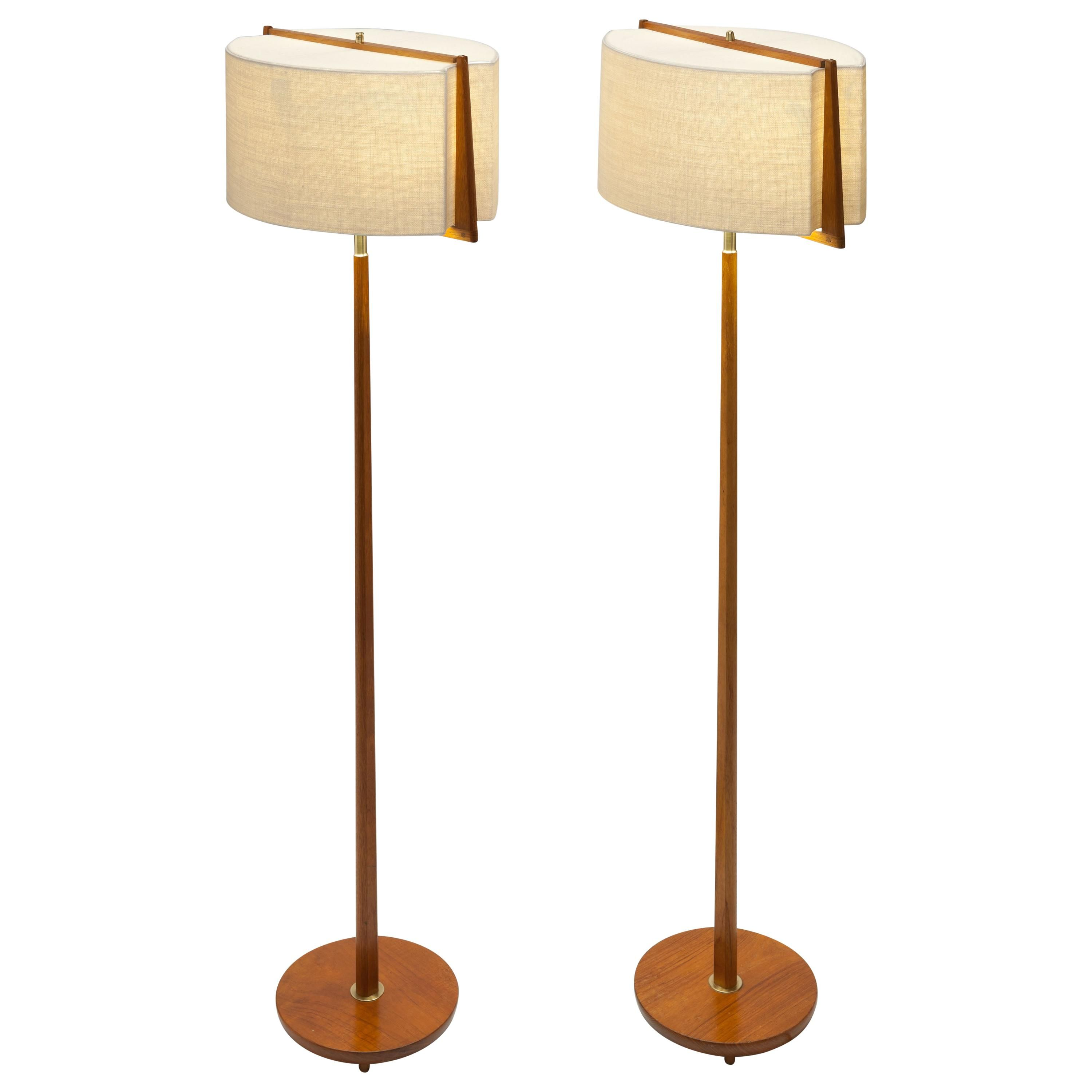 Scandinavian Modern Teak, Brass, and