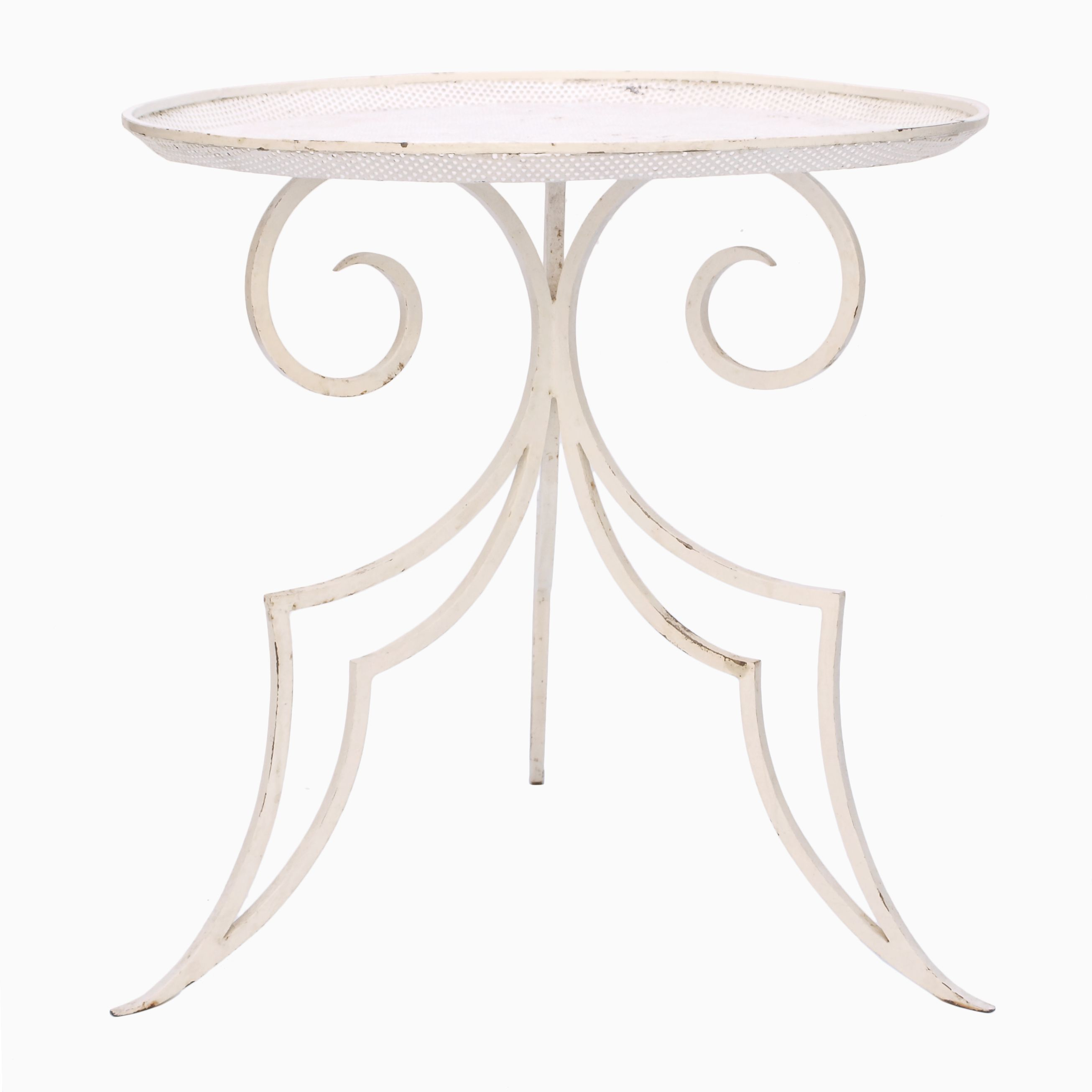A 1940s French Wrought Iron Side Table