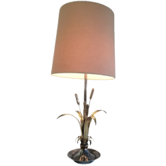 SILVER & BRASS WHEAT TABLE LAMP. FRENCH. C. 1940