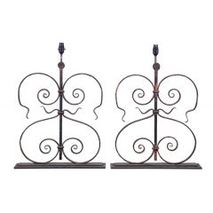 Pair of 19th Century French Architectural Balustrade Lamps