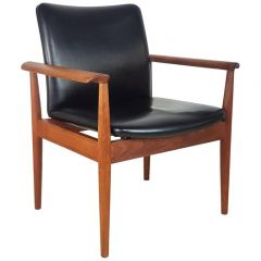 1960s Finn Juhl Diplomat Chair Made By France & Son Denmark