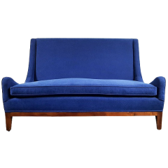 20th century high back two seater sofa