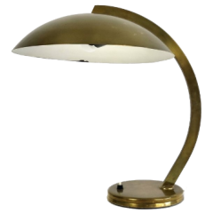 Bauhaus brass table lamp by Hillebrand