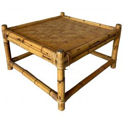 Midcentury Italian Bamboo Side or Coffee Table from Vivai del Sud, 1970s