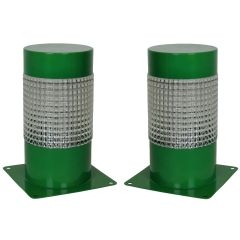 Pair of Sixties Lights In Emerald Green Lacquer