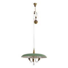 A Scallop Edge Rise & Fall Ceiling Light, circa 1950