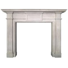 Georgian Style Portland Stone Fireplace Mantel