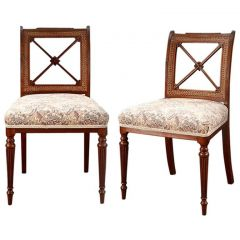 Pair of Regency Mahogany Dining Chairs