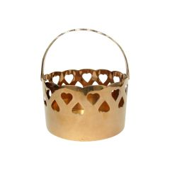 Pierced Brass Basket