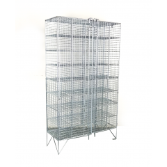 Wire Mesh Shoe Locker / Pigeon Holes With 40 Compartments