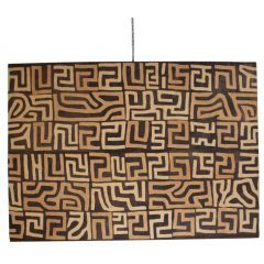 A large African Kuba cloth panel