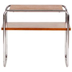 Bauhaus Chrome Steel Side Table, 1930s