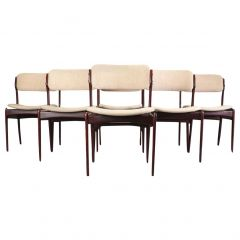 Erik Buch Set of Six Refinished Dining Chairs in Tanned Oak, Inc. Reupholstery