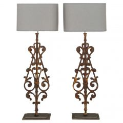 Pair of 19th Century Balustrade Lamps