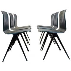 Two-Toned Stackable Pagholz Galvanitas S22 Industrial Diner Chairs