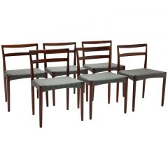 Set of Six Rosewood Dining Chairs by Harry Ostergaard for Randers Møbelfabrik