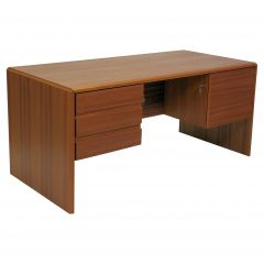 1980s, Danish Desk in Teak by Silberg Mobler