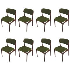 Erik Buch Set of Eight Refinished Rosewood Dining Chairs Inc, Re-Upholstery