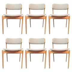 Erik Buch Set of Six Oak Fully Restored Dining Chairs, Inc. Reupholstery