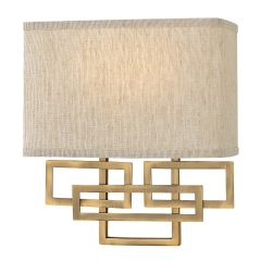 Brushed bronze Patterned Wall Light