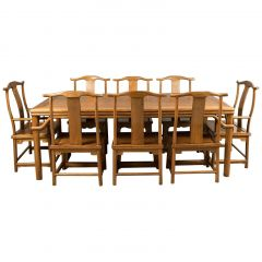 Midcentury Chinese Table and Eight Chairs in Traditional Taste