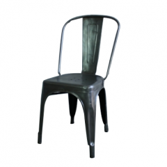 Vintage French Stripped Steel Tolix Cafe Chair