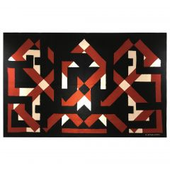 Important 1960s Wool Tapestry by Cartier-Bordes