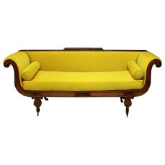 Regency Daybed in Chartreuse Velvet