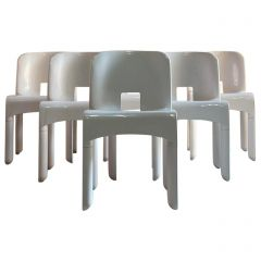 Joe Colombo Universale Chairs Model 4867 Set of Six by Kartell, Italy, 1967