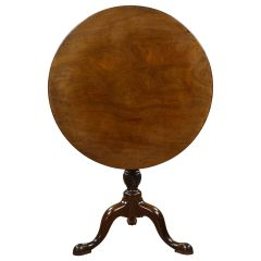 18th Century English George III Mahogany Tripod Table