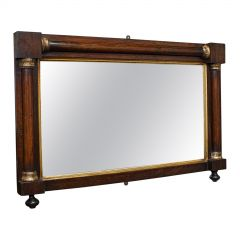 Antique Overmantel Mirror, English, Rosewood, Glass, Rectangular, Regency, 1820