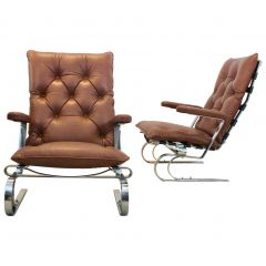 COR Leather Lounge Chairs
