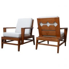 René Gabriel Re-Construction French Midcentury Armchairs