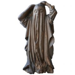 Early 20th Century Carved Wooden Ghost