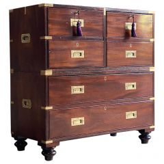 19th Century Military Campaign Chest of Drawers Teak circa 1850 Number 88