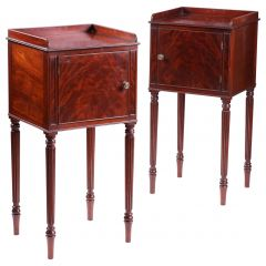 Pair of Mahogany Bedside Cabinets in the Manner of Gillows