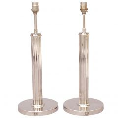 Pair of 1940s US Army desk Lamp in nickel plated polish. Pair of bedside lamp