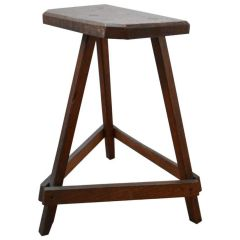 Antique English Wooden Cutler's Stool or Side Table (No.3)