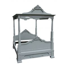 Swedish Gustavian Four Poster Bed