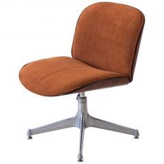 1950s Fully Restored Rosewood and Leather Desk Chair by Ico Parisi for MIM