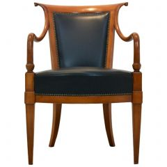 Exclusive Italian 'Directoire' Chair by Selva in Solid Beech and Leather