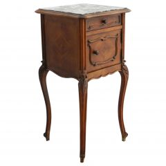 French Side Cabinet Nightstand Bedside Table Late 19th Century Louis XV