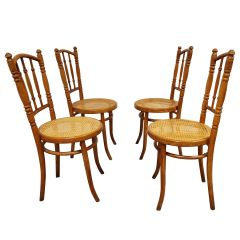 Set of 4 Vintage Bistro Chairs, 1950s