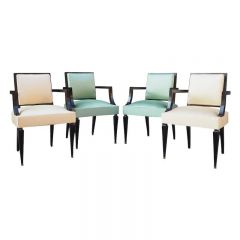 Fine Set of Four Chairs Attributed to André Arbus