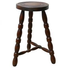 French Mid-Century Bobbin Stool or Side Table