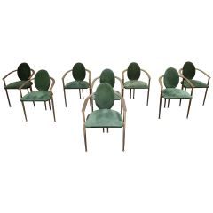 Vintage Dining Chairs by Belgo Chrom, Set of 8, 1980s