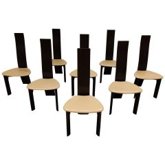 Set of 8 Dining Chairs by Rob & Dries Van den Berghe, 1980s