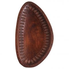 Mid-Century Carved Wood Bowl