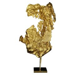 Philippe Cheverny Gilded Abstract Sculpture, Circa 1970
