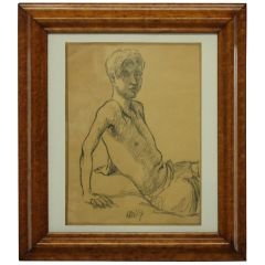 Portrait of a Young Man in Charcoal